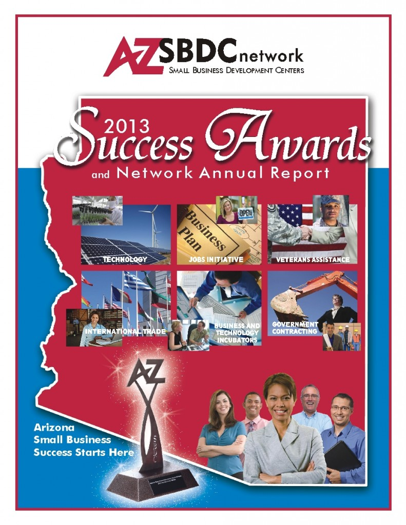 AZSBDC Success Awards Cover 2013